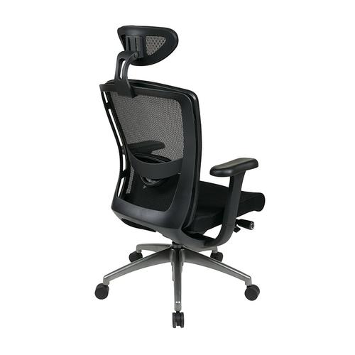 Executive Black Progrid® Back Chair With Headrest