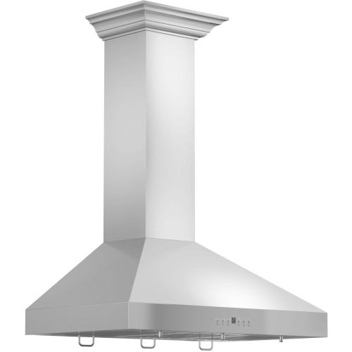 "ZLINE 36"" Wall Range Hood with Crown Molding (KL3CRN-36)"