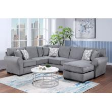 Savannah Gray 2pc Sectional, U1731