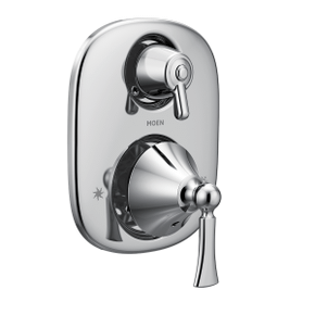 Wynford chrome moentrol® with transfer valve trim