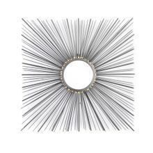 Square Metal Sunburst Mirror, Wb