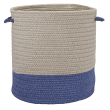 "Sunbrella Coastal Basket AS59 Cornflower 15"" X 16"""