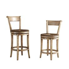 Hartford Rushseat Swivel Barstool