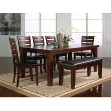 Bardstown 7 Pc Regular Height Brown Dinette Set by CrownMark, Model 2152