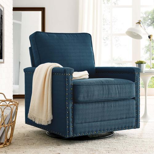 Modway - Ashton Upholstered Fabric Swivel Chair in Azure