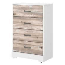 River Brook Bedroom Chest of Drawers - White Suede Oak/Barnwood