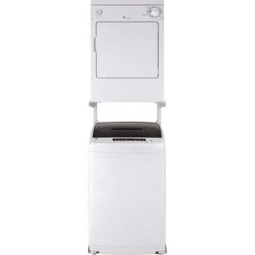 GE® Space-Saving 2.8 cu. ft. Capacity Stationary Washer with Stainless Steel Basket