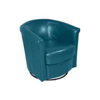 Marvel Swivel Chair Teal Blue