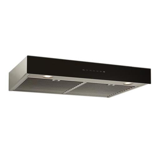 BEST Range Hoods - Ispira 30-in. 550 Max CFM Stainless Steel Under-Cabinet Range Hood with PURLED™ Light System and Black Glass, ENERGY STAR certified