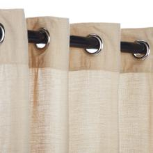 See Details - Sunbrella Sheer Honey Outdoor Curtain with Grommets
