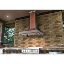 "See Details - ZLINE 36"" Designer Series Copper Finish Wall Range Hood (655-CSSSS-36)"