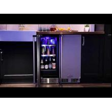 15-In Professional Built-In Beverage Center with Door Style - Stainless Steel Frame Glass, Door Swing - Left