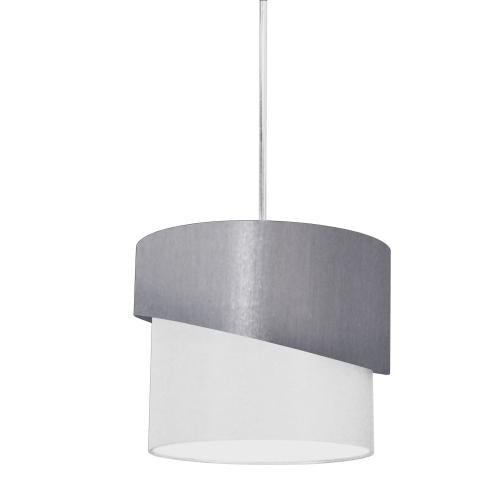 1lt Jazlynn Pendant, Grey/white Shade W/ 790 Diff