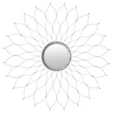 Flower Mirror - Silver