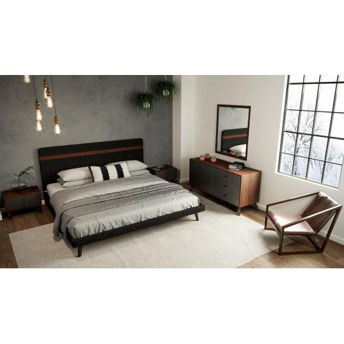 Nova Domus Dali Modern Grey & Walnut Dresser