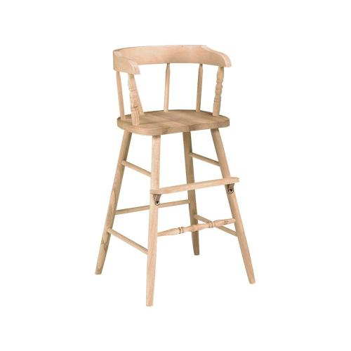 Unfinished Youth High Chair