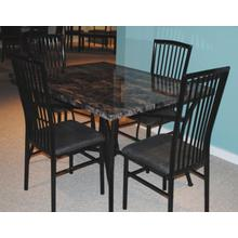 See Details - Black and Faux Marble 5 Pc Dinette