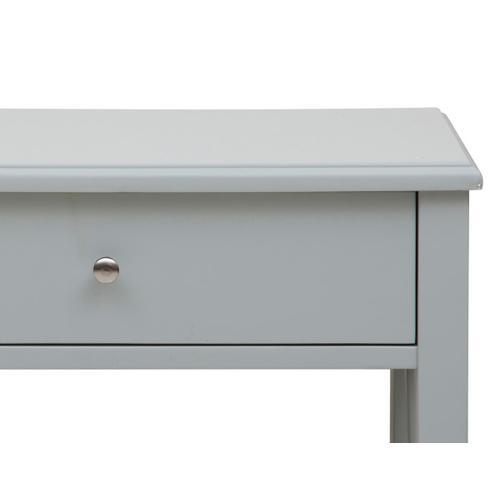 Grey Open X Leg Side Table