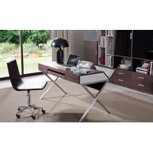 Modrest Orwell Contemporary Brown Oak & Grey Office Desk