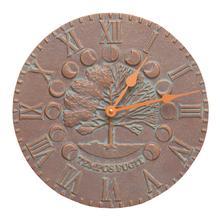 Times & Seasons Clock - Copper Vedigris