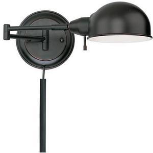 Swing-arm Wall Lamp, Aged Copper, E27 Cfl 13w