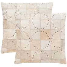 Phoebe Pillow - White W Silver Studds