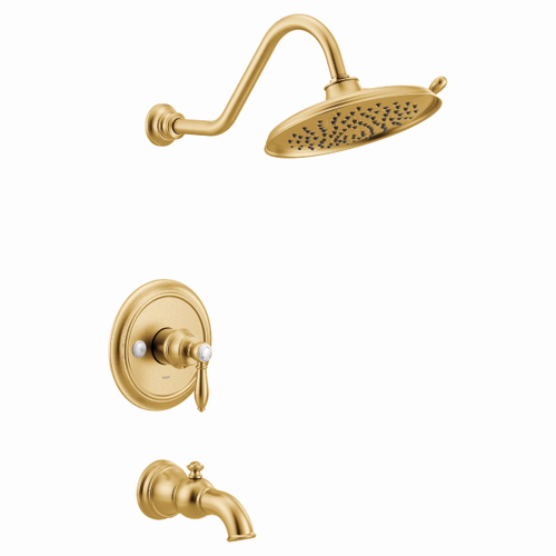 Weymouth brushed gold m-core 3-series tub/shower