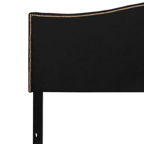 Flash Furniture - Lexington Upholstered King Size Headboard with Accent Nail Trim in Black Fabric