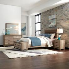 King California Storage Bed, Dresser & Mirror, Night Stand