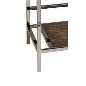 Accentrics Home - Modern Industrial-Style Wood and Metal Sofa Table