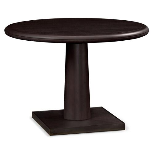 Round Dark Brown Ash Dining Table