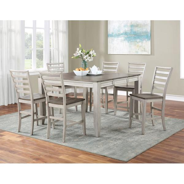 See Details - Abacus 5-Piece Counter Dining Set (Counter Table & 4 Counter Chairs)