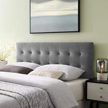 View Product - Emily King Biscuit Tufted Performance Velvet Headboard in Gray