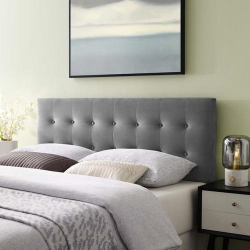 Modway - Emily King Biscuit Tufted Performance Velvet Headboard in Gray