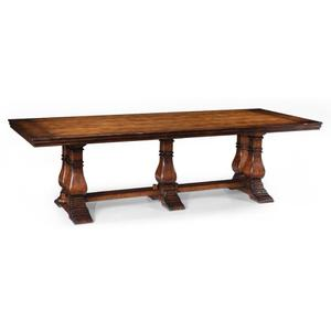 Large walnut refectory table
