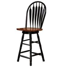 """See Details - Swivel Barstool - Antique Black and Cherry (30"""")"""