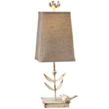 Distressed Ivory Bird Accent Lamp. 60W Max.