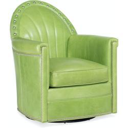 Bradington Young Battier Swivel Chair 8-Way Hand Tie 412-25SW