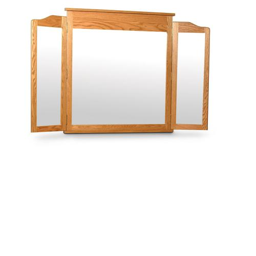Crown Tri-View Dresser Mirror, Medium