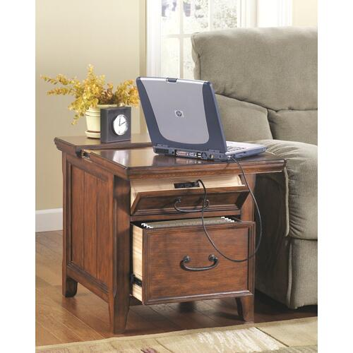 Woodboro Media End Table Dark Brown Finish