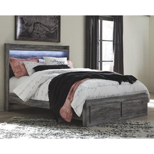 Baystorm Queen Panel Bed With 2 Storage Drawers