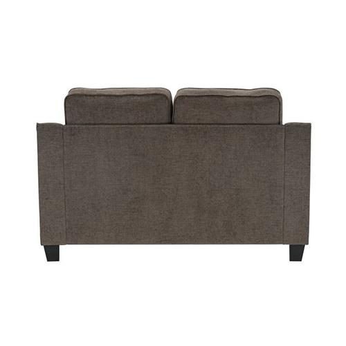 Marco Upholstered Loveseat, Chocolate Brown