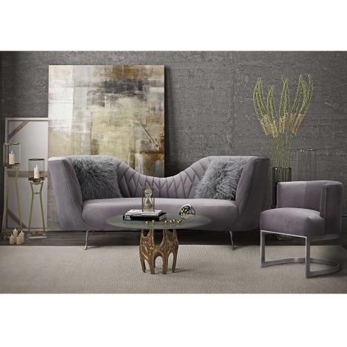Tov Furniture - Eva Grey Velvet Sofa
