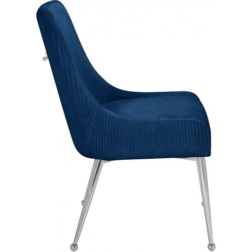 "Ace Velvet Dining Chair - 24"" W x 21"" D x 34.5"" H"