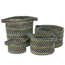 "American Farmhouse 4-Set Vintage Bskts Basket AF26 Forest Green 10"" X 7"""