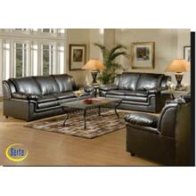 Marshall Black Bonded Loveseat