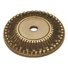 "Savannah Backplate 1-5/8"" Diameter, Sherwood Antique Brass"