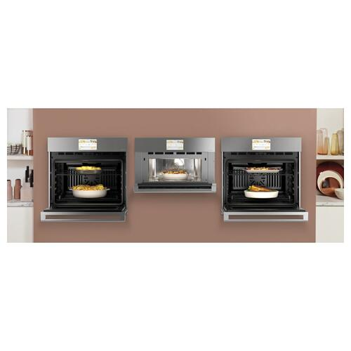 "Cafe 30"" Smart Five in One Wall Oven with 240V Advantium ® Technology in Platinum Glass"
