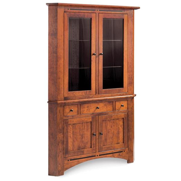 See Details - Aspen Closed Corner Hutch with Inlay, Medium