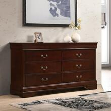 Isola Louis Philippe Solid Wood Construction Fully Assembled Dresser, Cherry Finish